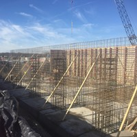 rebar, wall tie up, concrete reinforcing, foundation steel